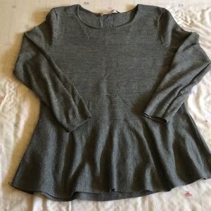 Peplum Knitted Sweater by Loft